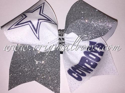Glitter Glitz Dallas Cowboys Cheer Bow