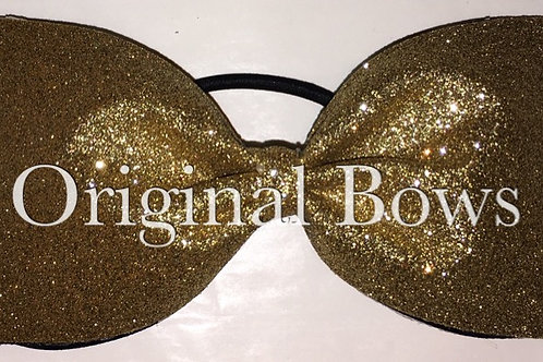 Gold Glitter Sparkle Tailless Cheer BOW