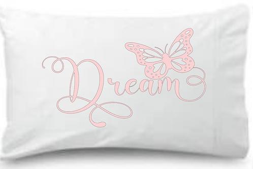 Dream Pink Butterfly Standard Pillowcase