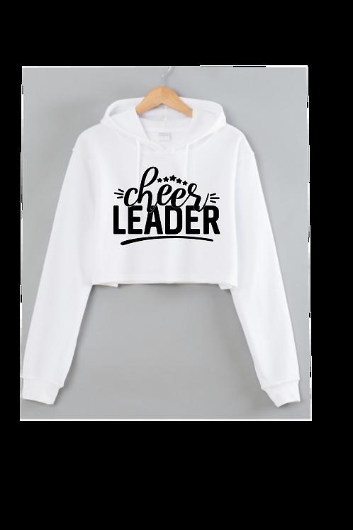Cheerleader White Cropped hoodie