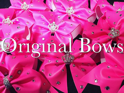 Hot Pink Bling Queen Cheer Bow