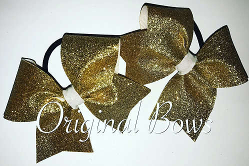 Gold Pigtail Mini Bow