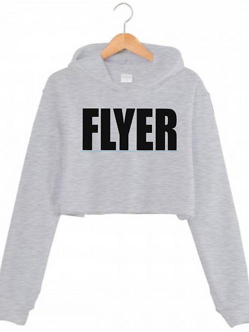 FLYER Grey Cropped hoodie