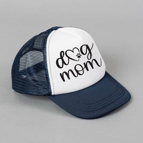 Dog Mom Black White Hat