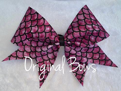 Pink Mermaid Glitter Cheer Bow