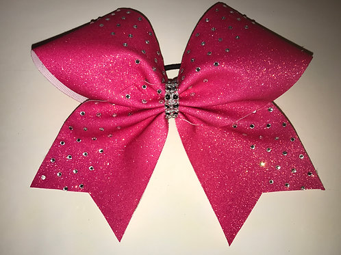 Pink Sparkle Glitter Bow