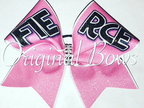 Pink FIERCE Glitter Cheer Bow