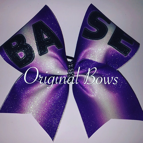 BASE Purple Ombre Glitter Cheer Bow