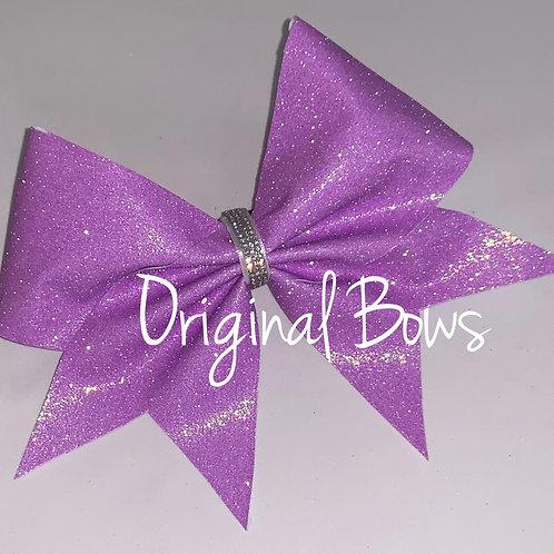 Lavender Purple Glitter Cheer Bow