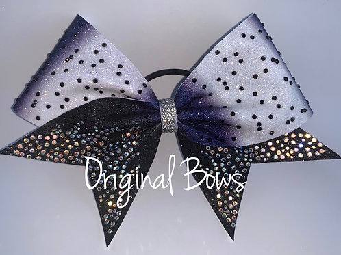 Two toned Blue Ombré gemstone Glitter Bow