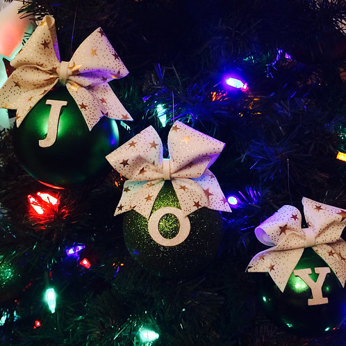 Cheer Christmas Tree Ornaments 3p Set