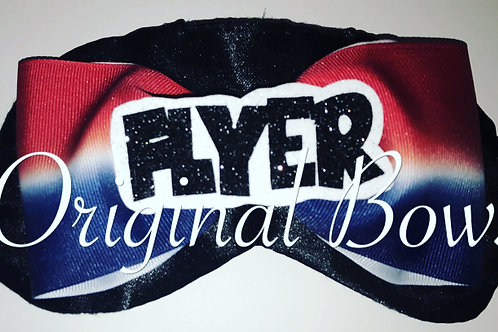 FLYER Red white blue Cheer Bow Sleep Mask