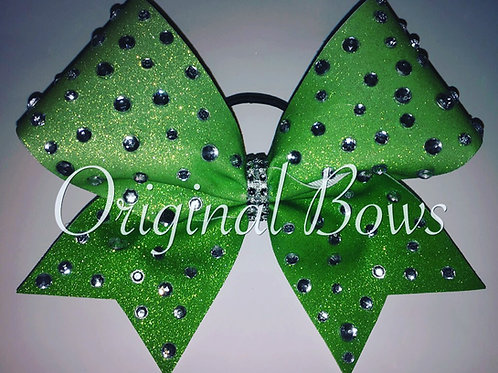 Green Blinged out Sparkle Glitter Bow