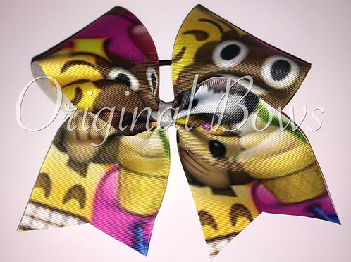 Emojis Grosgrain Cheer Dance Bow
