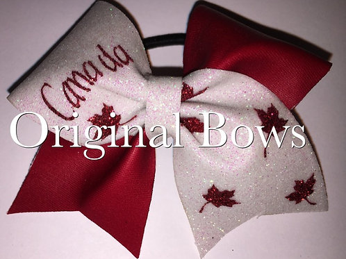 Canada Red & White Mini Bow
