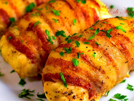 BACON WRAPPED AND CHICKEN ROLL