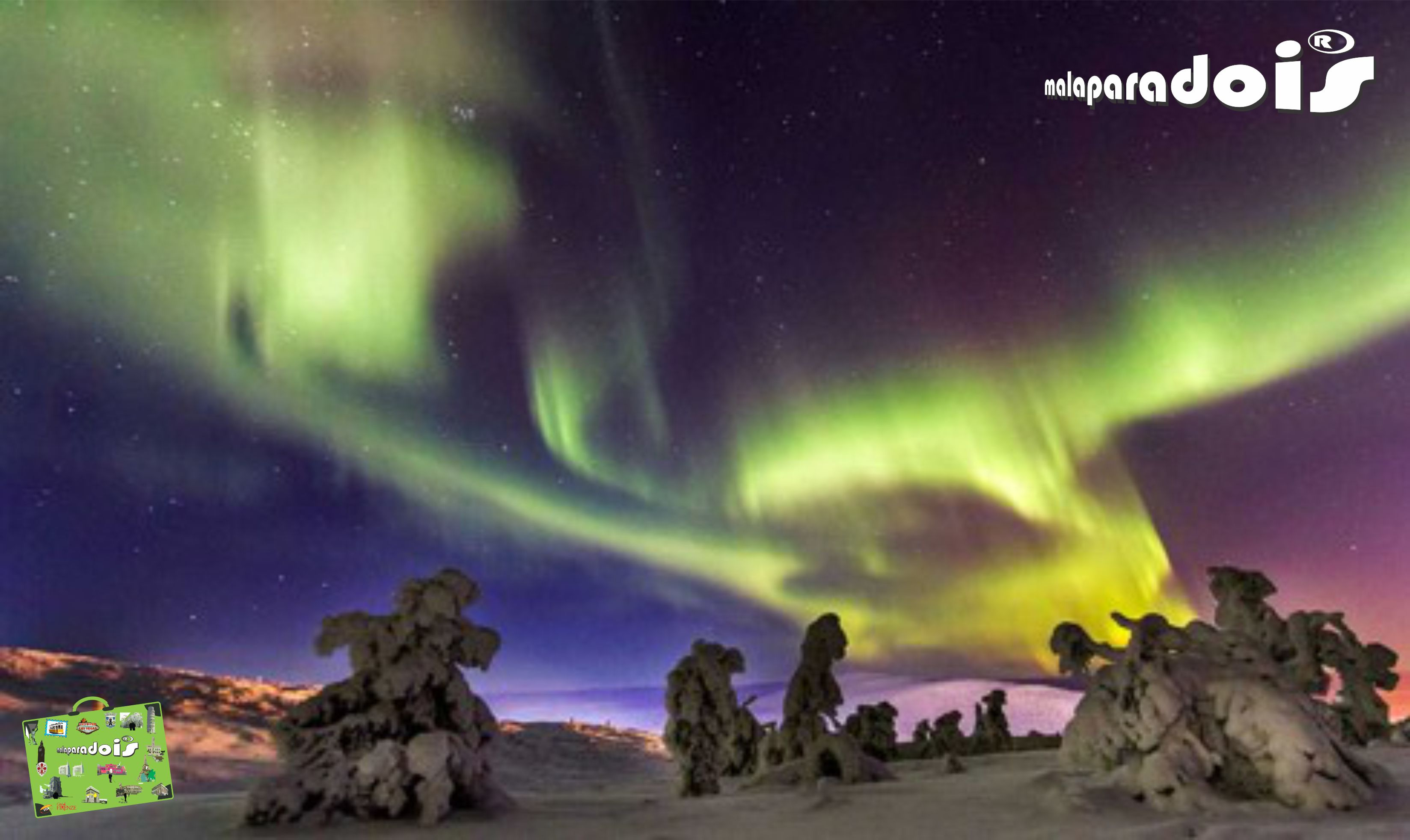Aurora Boreal na Laponia