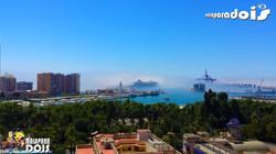 Vista do Porto de Málaga