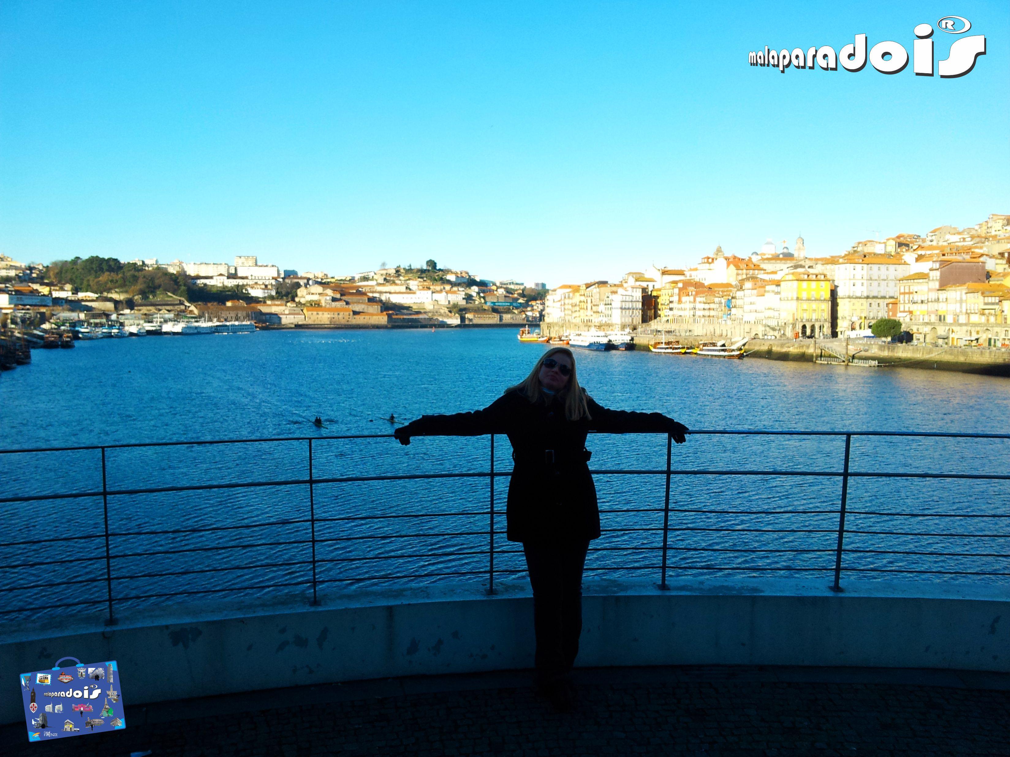 De um lado O Porto... Do outro Vila Nova de Gaia