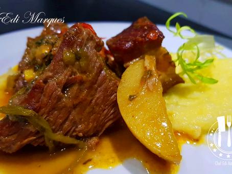 Carne Mexicana com Purê de Duas Batatas | Escalope Mexicano