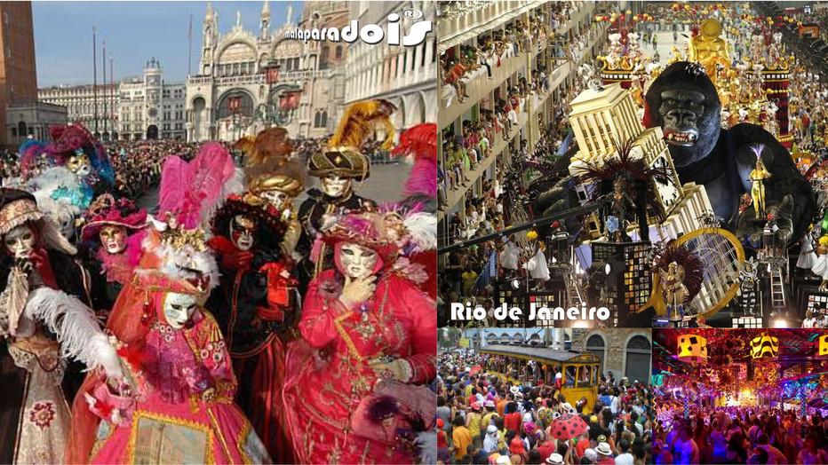 O Carnaval de Veneza X Carnaval Carioca