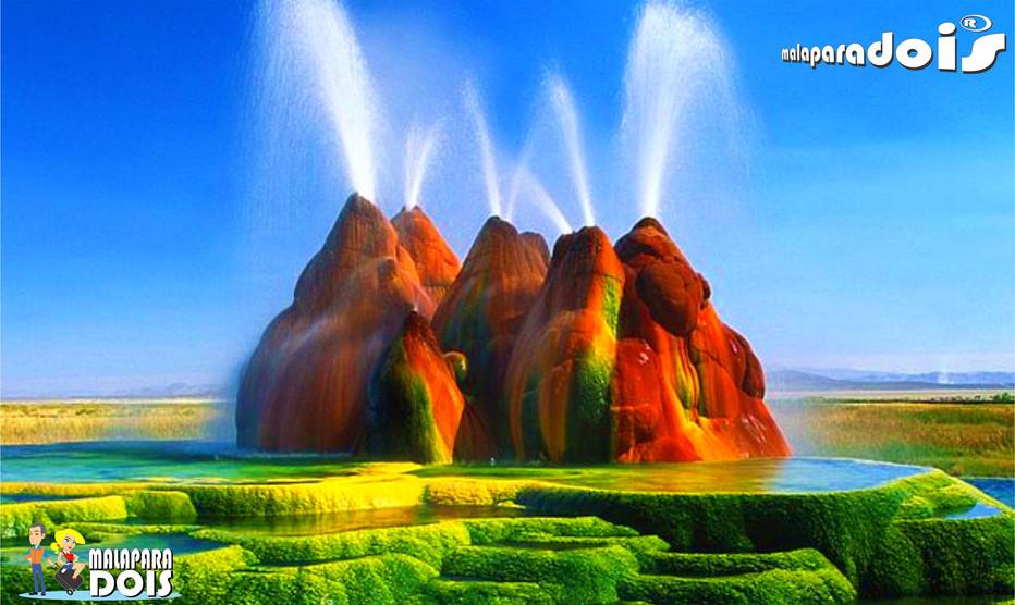 Fly Ranch Geyser, as montanhas coloridas de Nevada