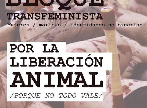Manifestación Antitaurina domingo 8 de octubre en Zaragoza