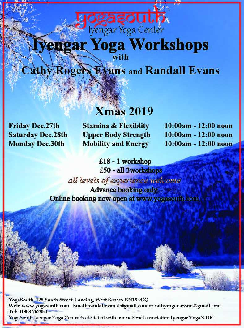 Christmas 2019 Iyengar Yoga Workshops