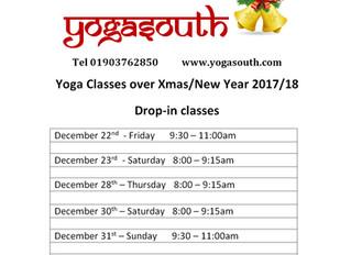 Yoga Classes During Christmas Break