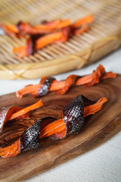 Wild Caught Salmon and Carrot Jerky Twists