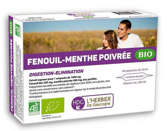 Ampoules - Fenouil / Menthe Poivrée BIO