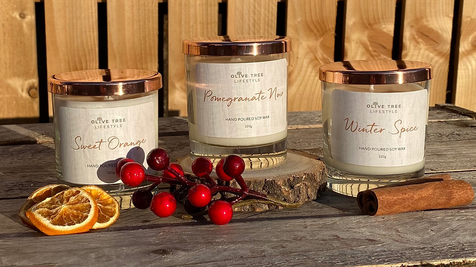 3 Large (220g) Candles for £50