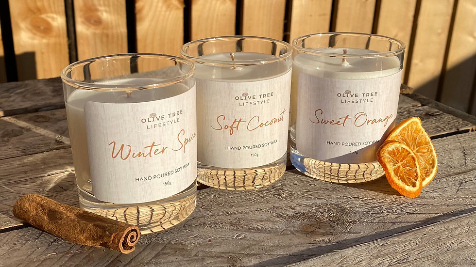 3 Medium (150g) Candles for £40