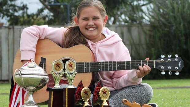 Jade O'Brien won junior overall at the Red Star Country Music Awards