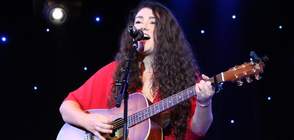 Jenny Mitchell, of Gore, performs at the New Zealand Gold Guitar Awards last night.