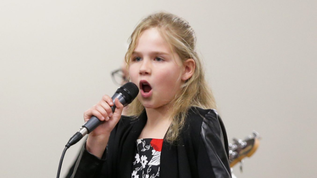 Anamika Jones, 9, of Waikouaiti, performs in the Junior Country Rock section.