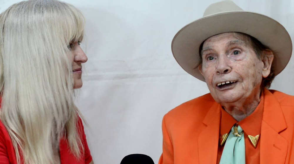 LOOKING BACK: Aly Cook interviews Chad Morgan at the Tamworth Country Music Festival