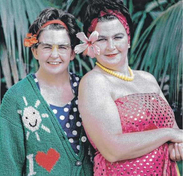 TOPP FUN: Huntly-born twins Lynda and Jools Topp