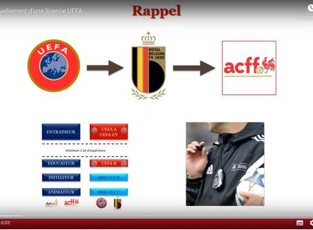 CEFF TV: Les licences d'entraîneur et obligations des clubs en matière d'encadrement