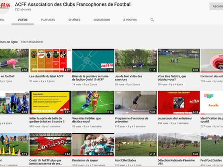 Découvrez la chaîne Youtube de l'ACFF !