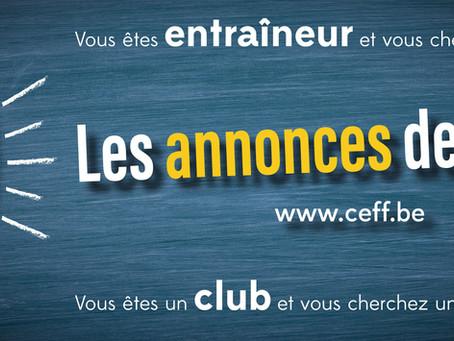 Les annonces de la CEFF