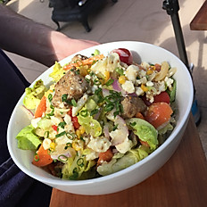 Grilled Lamb Skewer and Salad