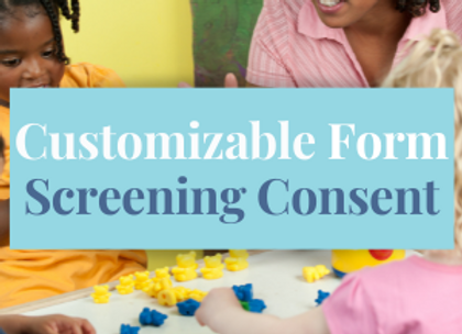 Customizable Template: Screening Consent Form