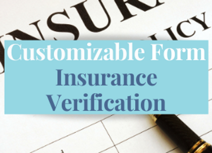 Customizable Template: Insurance Verification Checklist