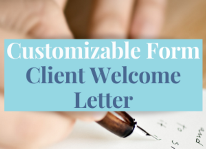 Customizable Template: Welcome Letter Template