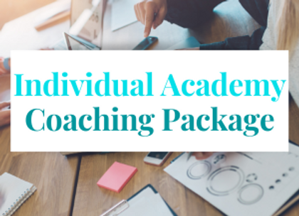 Individual Academy Coaching Package
