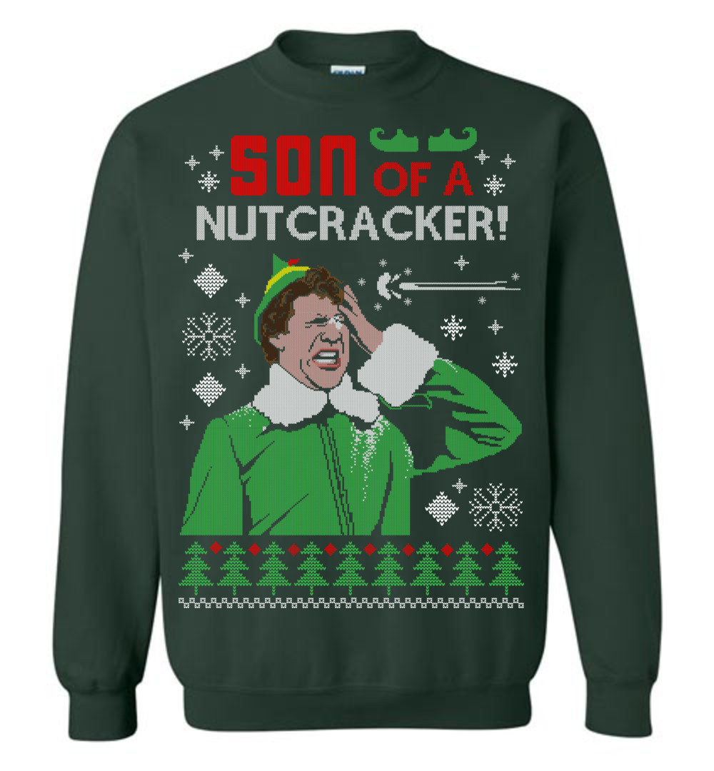 Our number 1 pick this year has to be the Classic Elf, portrayed by Actor Will Ferrell in the Christmas film Elf. With the movie being released 15 years ago this year we couldn't really choose another one could we? You can get this for just $35.00  https://thewholesaletshirts.com/shop/son-of-a-nutcracker-elf-ugly-christmas-sweater/