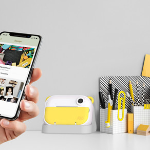 All-in-one kids camera and 10-second instant print Wi-Fi portable labelprinter