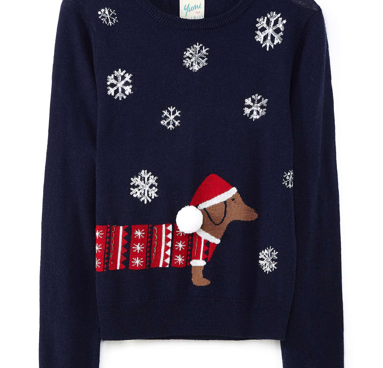 Christmas is a family holiday and nothing says family like a family dog. We loved this Sausage dog jumper and so can you for just £14.00.  https://www.houseoffraser.co.uk/kids-and-baby/yumi-girls-christmas-dog-jumper/d842879.pd#279651139