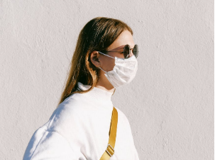 Ditch that disposable mask and get a re-usable one... it's way more stylish!